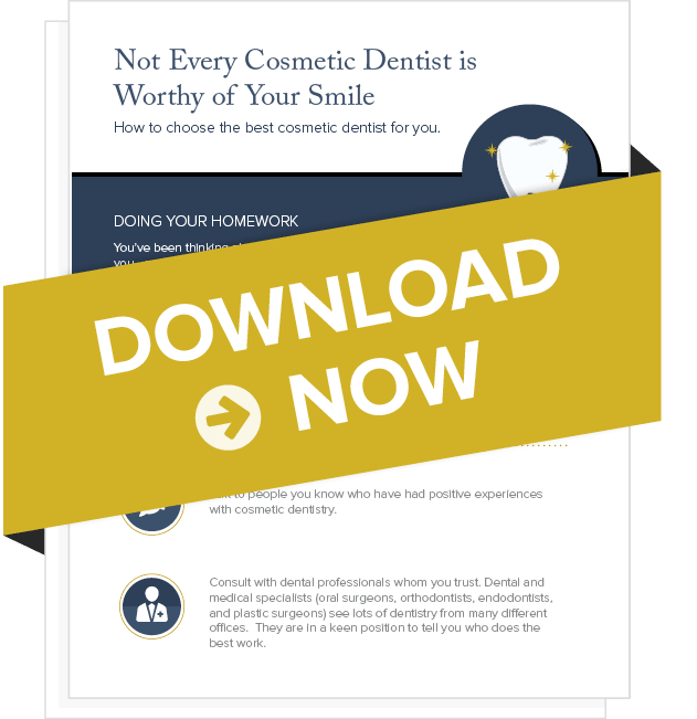 "Preview of our free eBook to help you shoose a cosmetic dentist for your full mouth restoration titled ""Not Every Cosmetic Dentist is Worth of Your Smile?"