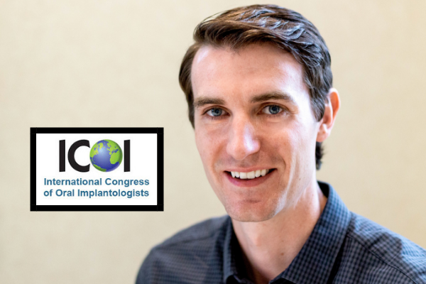 Profile photo of Dr. David Bunn and logo for the ICOI - International Congress of Oral Implantologists