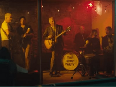 Dr. Merrill appearing in his sons' new music video by The Nude Party