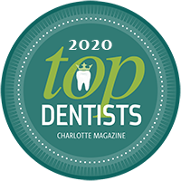 Charlotte Magazine Top Dentists of 2020 Badge